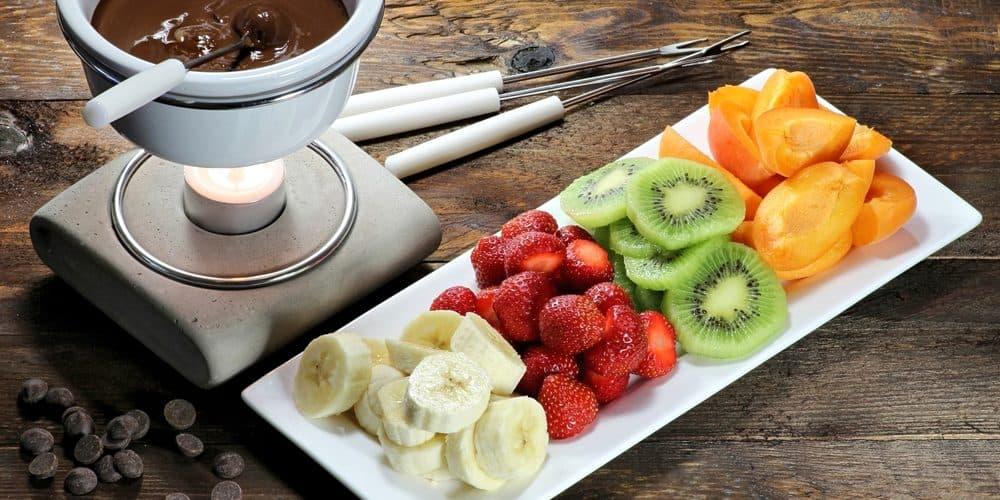 accompagnement fruit banane fraise kiwi