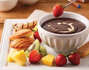 degustation fruit madeleine et chocolat