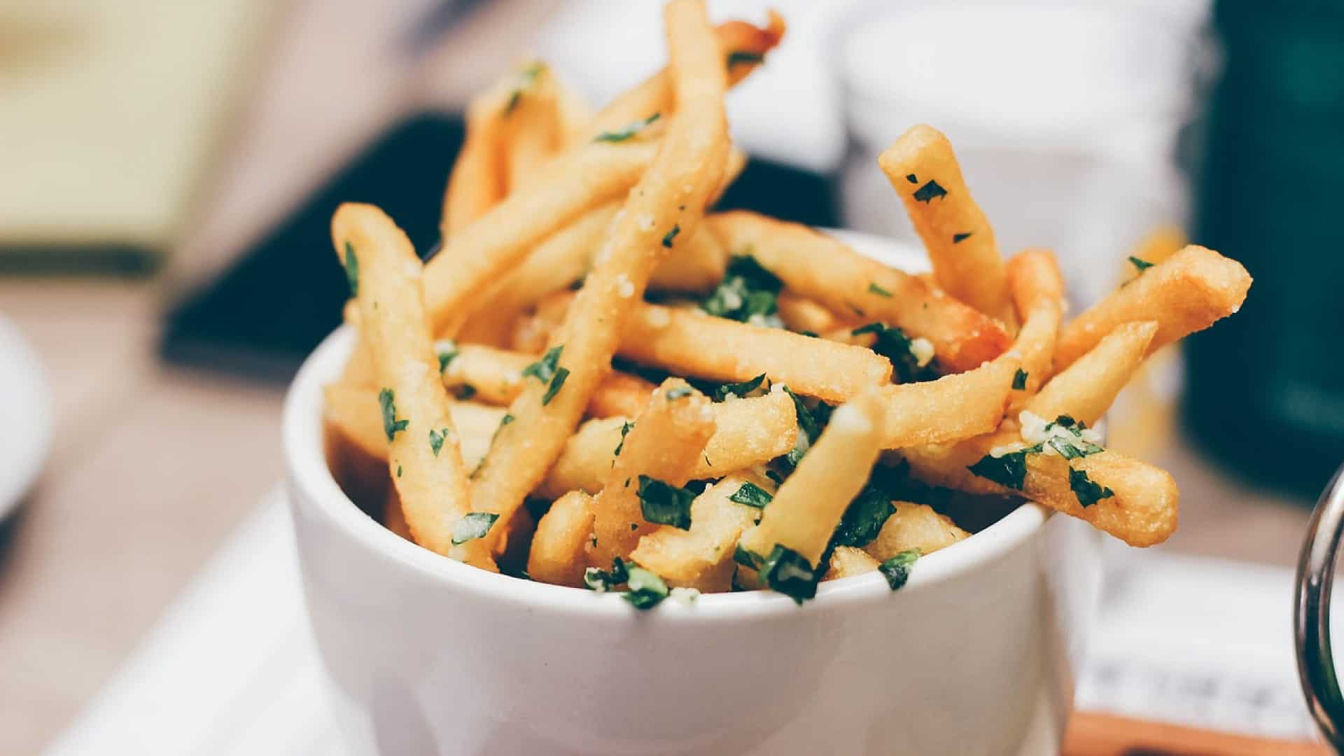 présentation frites sans huile