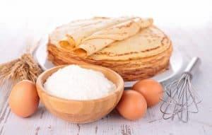 oeuf sucre farine pour pâte à crêpe