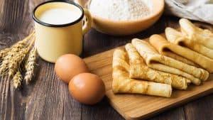 crepes avec du lait des oeufs et de la farine