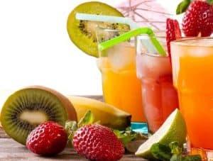 présentation jus de fruits frais