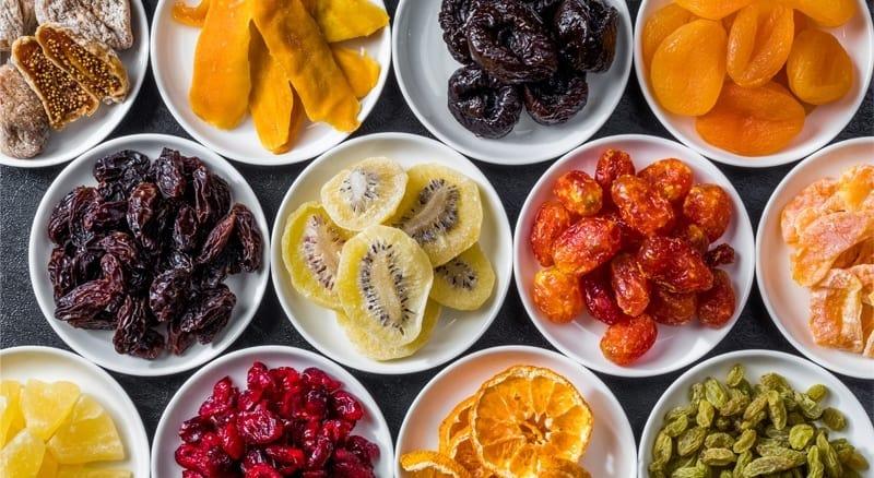 conservation différents fruits par déshydratation