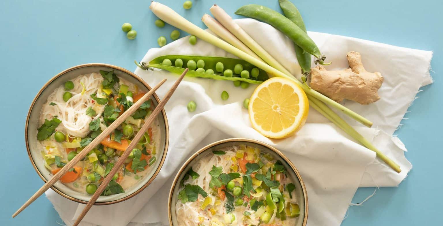 recette soupe veggie au lait de coco