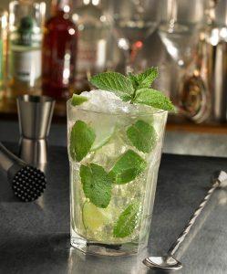 mélange rhum cubain citron vert