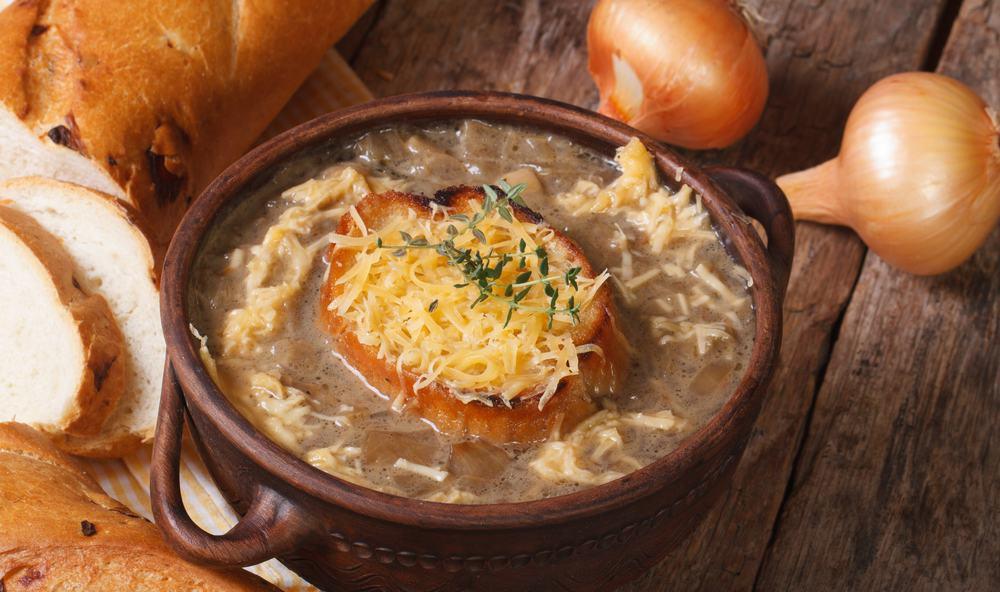 présentation recette soupe ognon facile