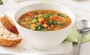 repas aux légumes et lentilles